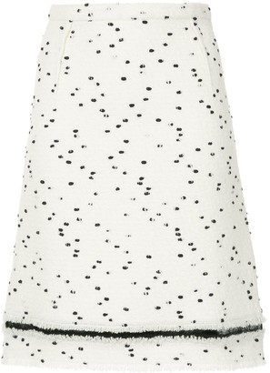 Giambattista Valli Dot Printed Skirt