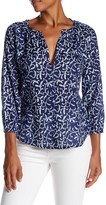 Velvet by Graham & Spencer Ladey 3/4 Sleeve Print Blouse