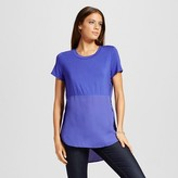 Mossimo Women's Mixed Media Side Split Top