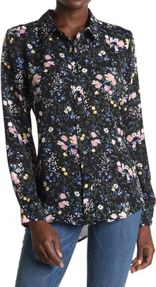 Laundry by Shelli Segal Floral Button Front Tunic Blouse