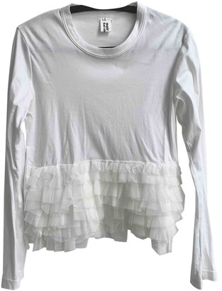 Noir Kei Ninomiya White Cotton Top for Women