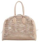 Alaia Large Laser Cut Shoulder Bag