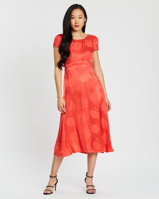 Dorothy Perkins Ruffle Sleeve Midi Dress