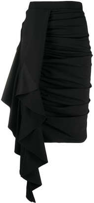 Redemption Ruffle-Panelled Gathered Skirt