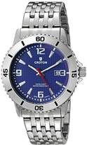 Croton Men's CA301288SSBL Analog Display Quartz Silver Watch