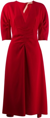 No.21 Ruched Midi Dress