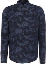 Armani Jeans Men's Regular fit camo print long sleeve shirt