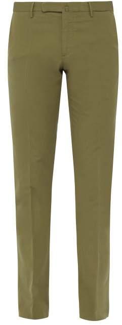 Incotex Venezia 1951 Slim Leg Cotton Blend Chinos - Mens - Green