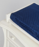 Navy Minky Changing Pad Cover