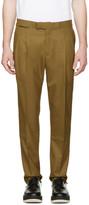 Toga Virilis Khaki Wool Trousers