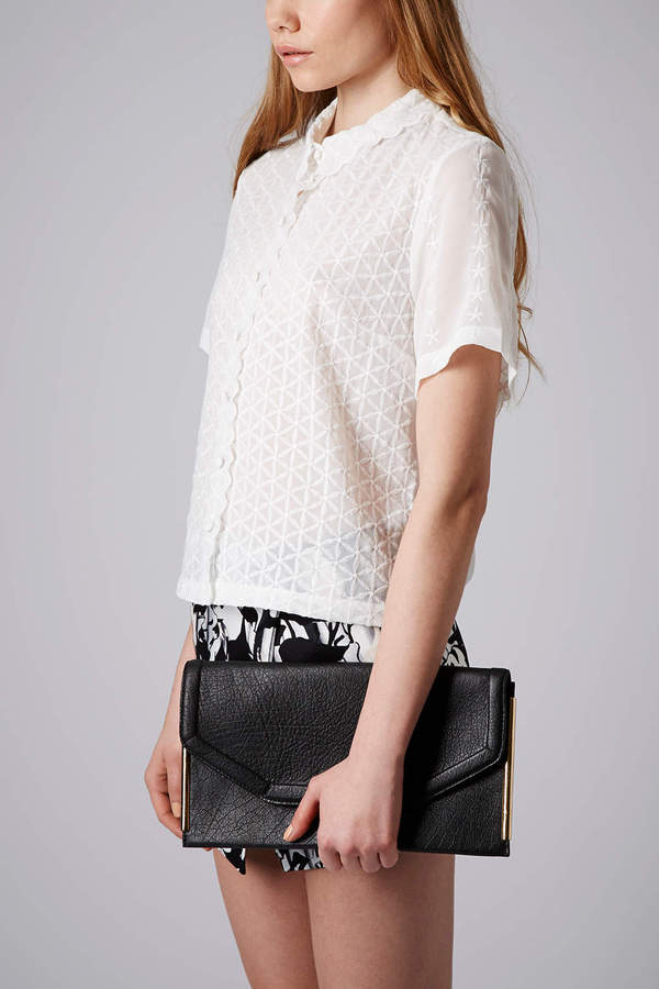 Topshop Side Bar Clutch Bag
