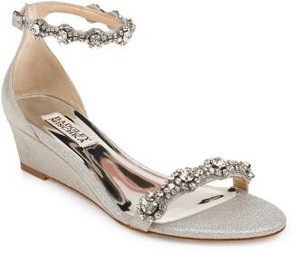 Badgley Mischka Zion Embellished Ankle Strap Sandal
