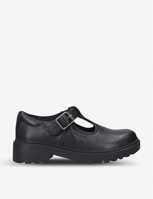 Geox Casey T-bar leather shoes 6-7 years