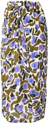 Christian Wijnants Samia floral print silk skirt