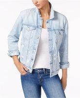 Calvin Klein Jeans Splatter-Print Denim Jacket