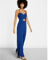 Express solid cut-out jumpsuit