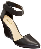 Black Closed Toe Wedge Heel With Ankle Strap - ShopStyle