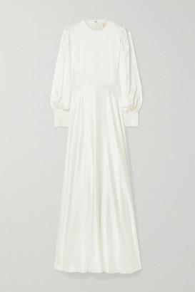 Roksanda Adyn Tulle-trimmed Silk-crepe Gown - Ivory