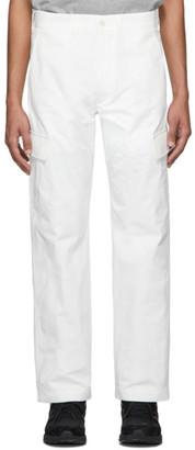 Junya Watanabe White Weather Cargo Pants
