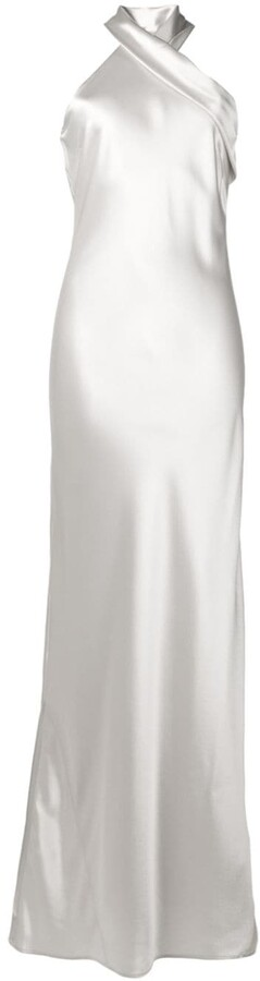 Galvan Pandora halter neck dress