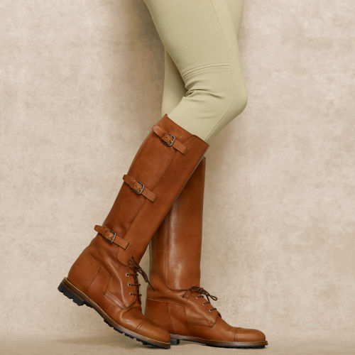 Ralph Lauren Distressed Sebille Boot