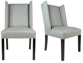 Sole Designs Winged Nail Head Spring Upholstered Side Chair
