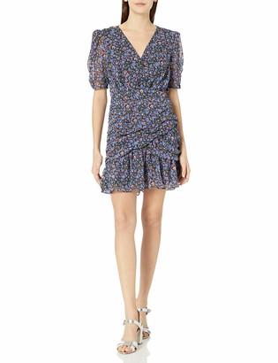 ASTR the Label Women's Shirred Bottom Mid Length Dress