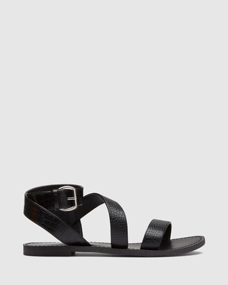 Therapy Women's Black Strappy sandals - Rimes - Size One Size, 7 at The Iconic