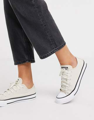 Converse Cream Chuck Taylor Ox All Star Renew recycled trainers
