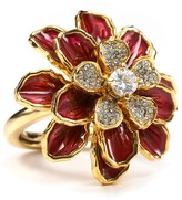 Juicy Couture Red Flower Cocktail Ring