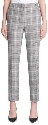 Donna Karan Plaid Skinny Pants