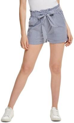 Only Smilla Stripe Belt Shorts Mid