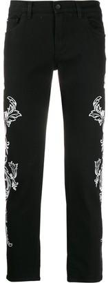 Dolce & Gabbana Stretch Skinny Jeans In Bandana Print