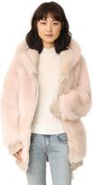 Faith Connexion Fur Over Sweatshirt Coat