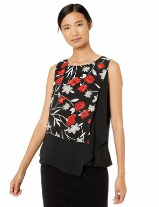 Calvin Klein Women's Sleeveless Layered Top