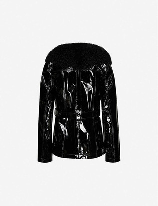 Saks Potts Ritual faux-fur trim leather jacket