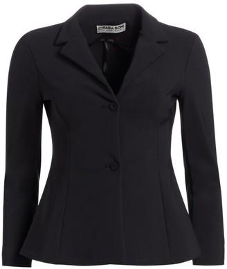 Chiara Boni Fedora Jersey Fitted Blazer