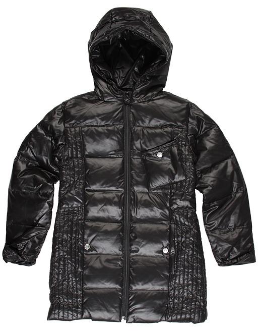 Appaman Kids - Long Puffy Down Fill L/S Coat (Little Kids/Big Kids) (Black) - Apparel