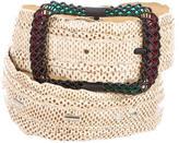 Bottega Veneta Embossed Leather Waist Belt