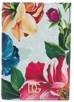 Dolce & Gabbana floral print passport holder