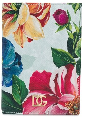 Dolce & Gabbana floral print passport holder