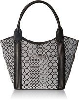 Nine West Track-Tion Action Tote Bag, Black/White/Black, One