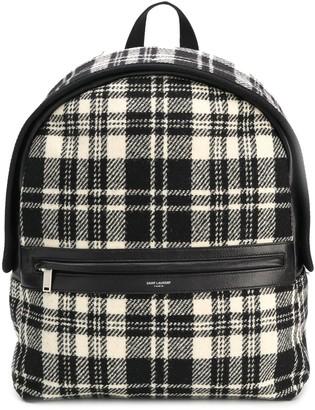 Saint Laurent Camp tartan backpack