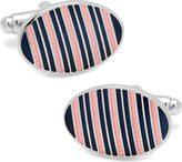 Cufflinks Inc. Men's Oval Repp Stripe Cufflinks