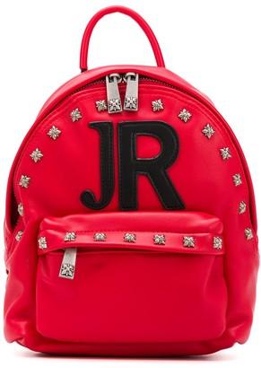 John Richmond Junior Logo Embroidered Studded Backpack