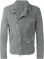 Giorgio Armani zip detail jacket - men - Lamb Skin - 50