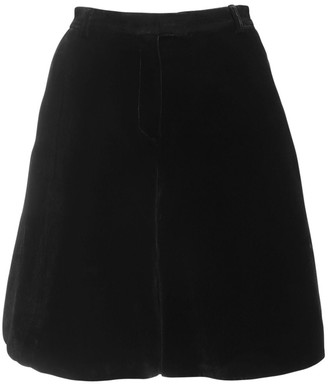 Cecilie Bahnsen Mille Velvet Shorts