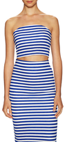Milly Cotton Stripe Crop Tube Top