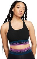 Nike Medium Pad Pro Mesh Bra (Black/Cerulean/White) Women's Bra