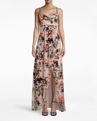 Nicole Miller Autumn Dream Burnout Hi-low Dress